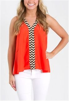 Fits and Squiggles Chevron Top