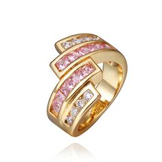 18K Real Gold Plated Austria Crystal ring