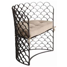 Natural Iron/Natural Linen Removable Cushion Dimensions: H: 33 1/2'' • W: 36'' • D: 19'' Material: Iron, Linen ,Vero Iron/Linen Chair, Arteriors, Chair, Lounge