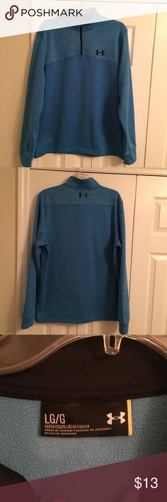 Men's Under Armour Blue Pullover Size Large Excellent condition! Polyester. Super soft! Under Armour Sweaters Zip Up