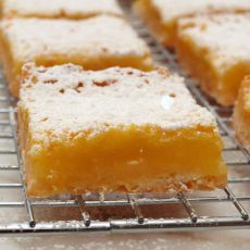 Lemon Bars with Graham Cracker Crust  Have to follow the link on the recipe for the prep directions