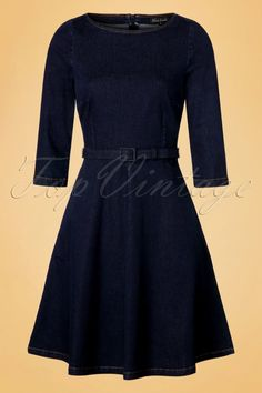 eddb78d2 Sixties lovers beware; this 60s Betty Denim Dress Vintage Kjoler, Vintage  Outfits, Vintagemode