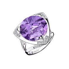 Bague Tellement Divine Ring with Amethyst and Diamonds