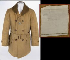 Photo No. 20: A 1918 Mackinaw Coat and its heavily faded contract label.