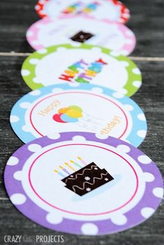 Love these super cute gift tags! Free Printable Birthday Gift Tags, can't beat that!