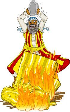 Moses destroys the golden calf.