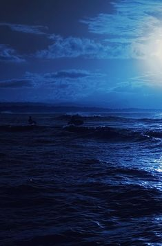 Color Magick: Blue is an excellent color for healers and Ocean magic. Represents the element of water and when worn, it promotes healing, peace, hope, and psychic receptivity. Photo Bleu, Waves, Blue Walls, Blue Moon, Aesthetic Pictures, Midnight Blue, Shades Of Blue, Strand, Scenery