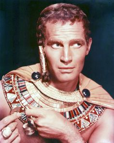 Charlton Heston for The Ten Commandments directed by Cecile B. DeMille, 1956