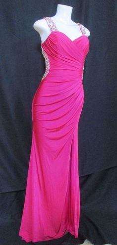 MORI LEE by Madeline Gardner 7/8 Beaded Maxi Dress Open Back with Side Cutouts #MoriLee #Maxi #Formal
