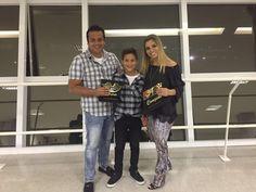 Melhor piloto de kart 2015 em duas categorias - Tribuna autódromo de Interlagos Mar/2016 / com os pais Wagner e Juliana
