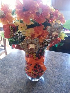 1000 Images About Candy Bouquets On Pinterest Candy Bouquet Bouquets And Vase