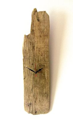 Driftwood Clock Wall Beach Clock Recycled Wood by NaturalClocks, £16.00