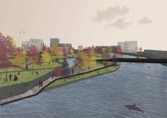 Urbanism, representation, FAU, Cluj Napoca, park, tree brushes, autumn.