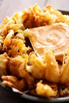 This is such an incredible appetizer. The flavor of the battered onion combined with the sauce makes for one addictive and unforgettable recipe! The Blooming Onion is one of my favorite appetizers to order from Outback Steakhouse and Texas Roadhouse. Copycat Recipes, Sauce Recipes, Cooking Recipes, Outback Recipes, Dip Recipes, Healthy Cooking, Yummy Recipes, Cooking Tips, Blooming Onion Recipes