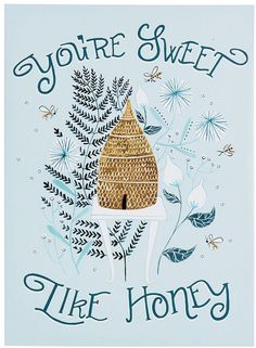 Sweet Like Honey Stretched Canvas Wall Art