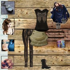 """""""Owl Obsession"""" by flightytemptress on Polyvore"""
