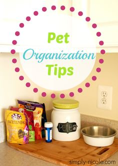 Pet Organization Tips at simply-nicole.com