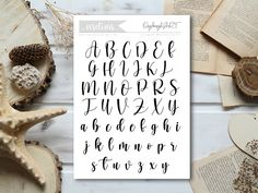 abc Calligraphy Tutorial, How To Write Calligraphy, Place Cards, Place Card Holders, Templates, Writing, Stencils, Vorlage, Being A Writer