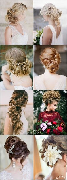 Modern glamorous long wedding hairstyles