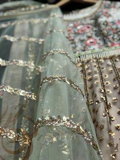 Bridal Mehndi Dresses, Desi Wedding Dresses, Pakistani Wedding Outfits, Pakistani Fashion Casual, Wedding Wear, Pakistani Dresses, Zardozi Embroidery, Embroidery Motifs, Embroidery Fashion