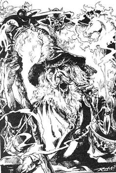 The Wizard Nicodemus, City of Thieves, Fighting Fantasy Gamebook, Iain McCaig