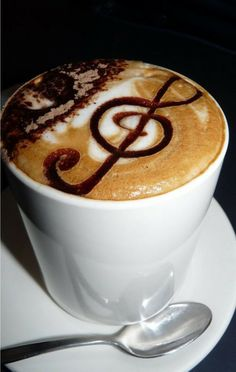 mmm che musica! i hear music when enjoying my first sip of coffee in the morning!