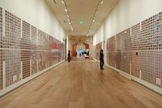 """Siemon Allen, """"Grids: An Archive of Collective Memory,"""" SCAD Museum of Art, 2013, installation view."""