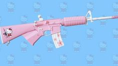 With previous releases, such as an AK-47 under it's belt, Hello Kitty looks poised to roll out a full army. This time around, some gun-loving nut put together a Hello Kitty-themed AR-15 assault rifle for his wife (how romantic) and posted the finished result on the interwebs for the world to see. It's so cute, it makes me want to shoot something. [Rifle Gear via Mobilewhack]