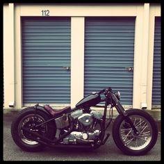 Black bobber. #Motorcycle