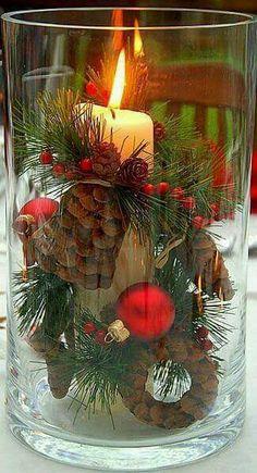 Vase Ideen, Ideen Für Tischdekoration, Deko Ideen, Bastelideen,  Weihnachtsdekoration, Weihnachtsideen, Weihnachtsbasteln, Gute Ideen,  Weihnachten Bilder