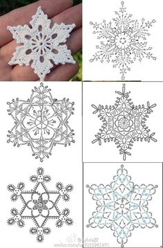 Crochet Stars, Crochet Snowflakes, Crochet Flowers, Snowflakes Art, Snowflake Garland, Crochet Angels, Christmas Snowflakes, Christmas Star, Christmas Bells
