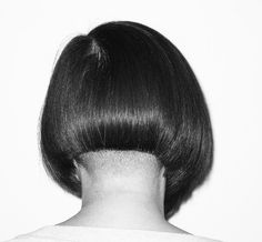 That time we touched up the #angledbob to give it a #sassoon finish with subtle #buzzednape