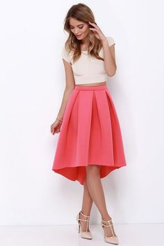 Solid Mid Length Pencil | High waist skirt, Skirts and Pleated ...