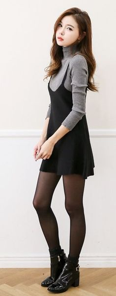 Just do this with your monki sweater and H&M basic skirt #KoreanFashion