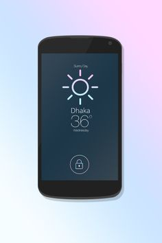 """iOS7 Lock Screen"" With ""Weather Update"" by Rifayet Uday, via Behance"
