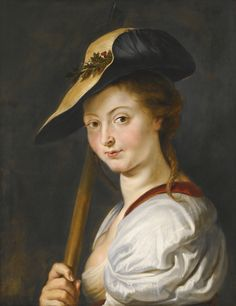 Sir Peter Paul Rubens and Studio SIEGEN 1577–ANTWERP 1640 PORTRAIT OF A LADY, POSSIBLY ISABELLA BRANT (1591 – 1626), AS A SHEPHERDESS