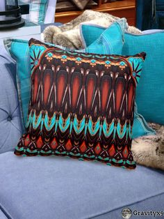 Lovely Brown and Turquoise Color Pattern Throw Pillow - K172 Wood And Turquoise   Pillows by #Abstractedness #Gravityx9 #Zazzle