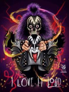 I Love It Loud, Kiss Me Love, Paul Stanley, Los Kiss, Banda Kiss, Kiss World, Gene Simmons Kiss, Kiss Rock Bands, Heavy Metal Art