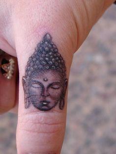 cute finger tattoo