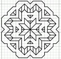 blackwork star motif...