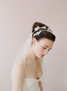 Style 218 Mini tulle veil Ready to Ship Mini bridal tulle veil