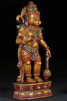 Lord Hanuman (The Monkey God) or Hanuman Ji is the greatest devotee of Lord Rama and plays a vital role in the epic Ramayana. Hanuman Photos, Hanuman Images, Ganesh Images, Lord Vishnu, Lord Shiva, Hindu Statues, Buddha Statues, Ganesh Statue, Ganesha Art