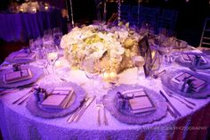 low lying floral centerpieces
