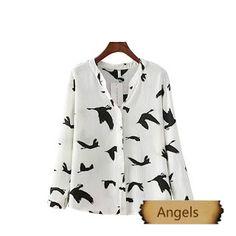 女裝韓版寬鬆顯瘦襯衣女士襯衫336 | Angels