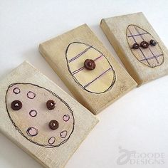 DIY Easter : DIY Mini Easter Egg Art