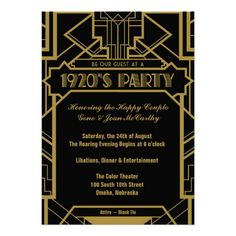 1920s Great Gatsby Party Invite Purchase by following link below...