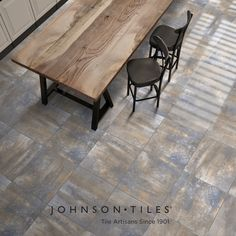 The Zorah is a multicoloured soft stone design, bringing contemporary city appeal to stone. Part of the Urban Collection, the range is also available in bone, light grey, mid-grey and stone. See more from our Urban Collection™ on our website. #tile #tiledesign #urban #interiordesign #homedecor #stonelook Johnson Tiles, Wall And Floor Tiles, Glazed Ceramic, Tile Design, Dining Table, Range, Urban, Flooring, Contemporary