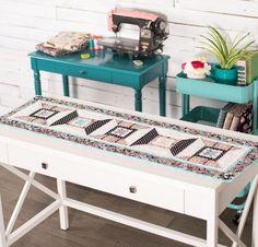 RJR Sew In Love By Dan Morris Spool Time Table Runner Kit - None