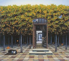 Mindbending landscapes... by Jacek Yerka  See more here (or click the image): http://www.justfollowthewhiterabbit.com