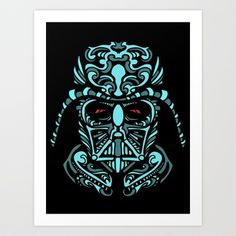 "Darth James Darth Art Print by Cloud Bomb Art Print by Quakerninja - Mini 8x18 or Small 13x17 $18.00  Medium 17x21 or large 22x28 $30  Extra Large 28x36 $50  Gallery quality Giclée print on natural white, matte, ultra smooth, 100% cotton rag, acid and lignin free archival paper using Epson K3 archival inks. Custom trimmed with 2"" border for framing. Repin Please"